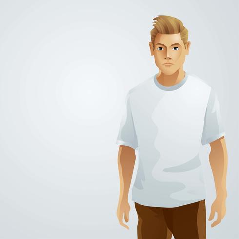 T Shirt Model Male vector