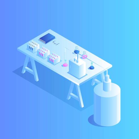 Small Lab Isometric Vector