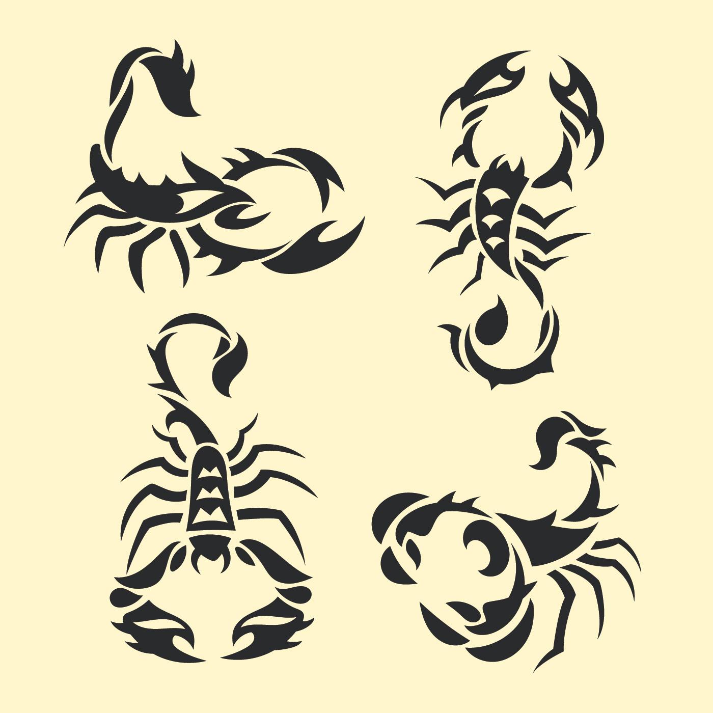 18 Stunning Tribal Scorpion Tattoo: Set Of Tribal Scorpion Tattoo