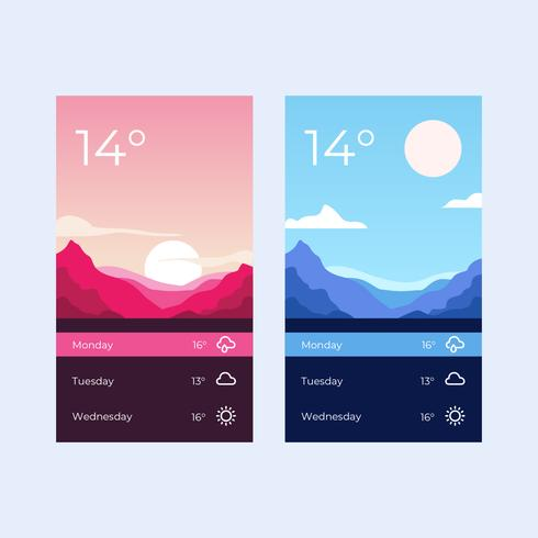 Weather App Screen Template