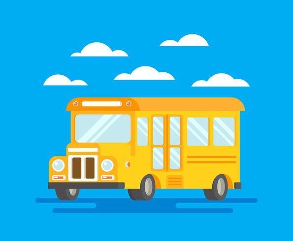 Ilustração de ônibus escolar