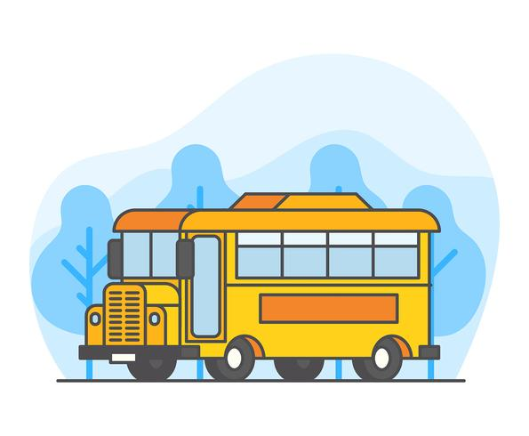 Illustrazione di scuolabus