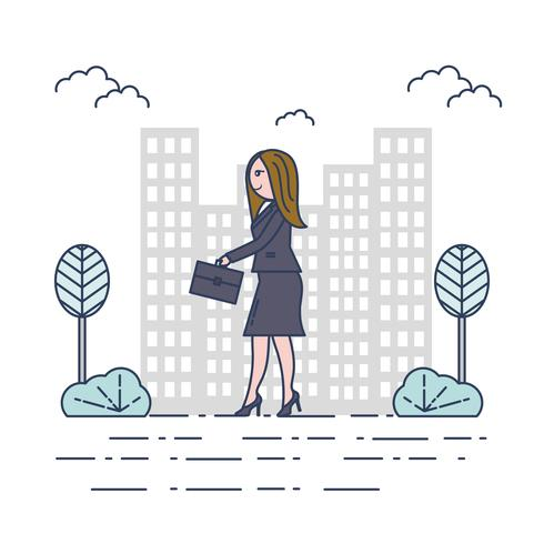 Vecteur de femme professionnelle