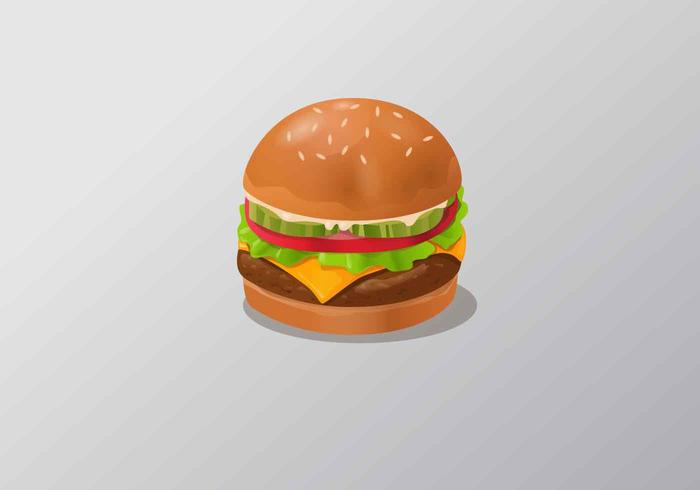 Realistic Fast Food Vector Illustration
