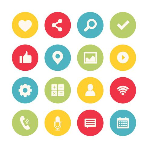Social Media Icons Set Collection vector