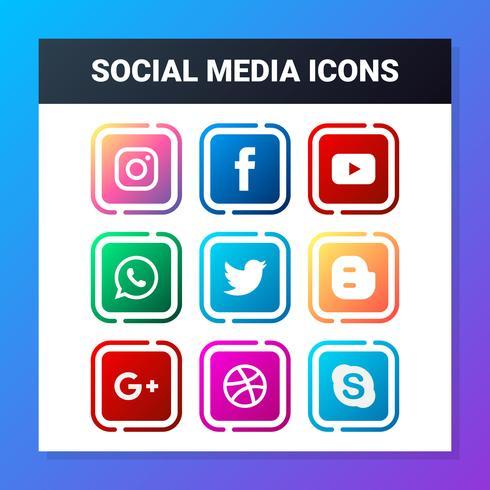 Sociaal netwerk Icon Set