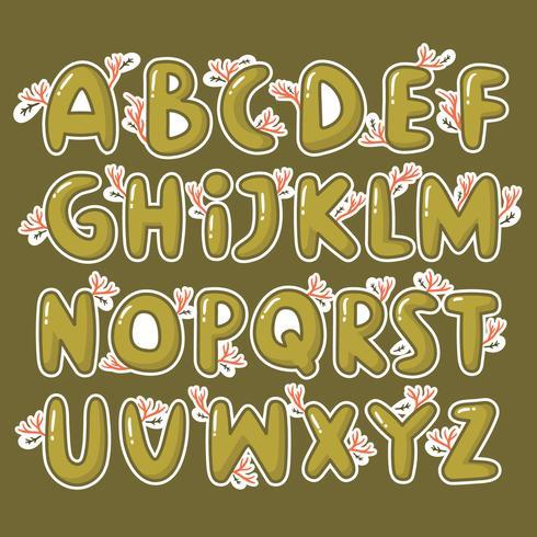 Alfabeto de outono