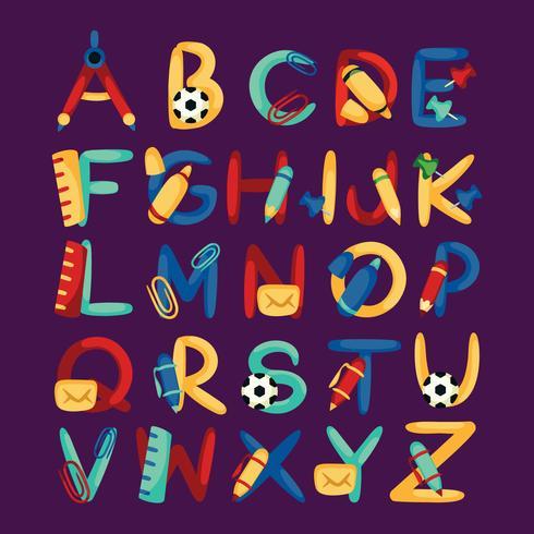 Alphabet sur le thème de l'école