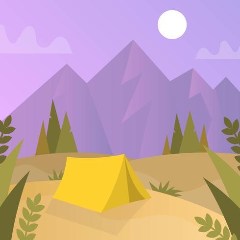 Flacher Natur-Forscher mit Steigung Hintergrund-Vektor-Illustration