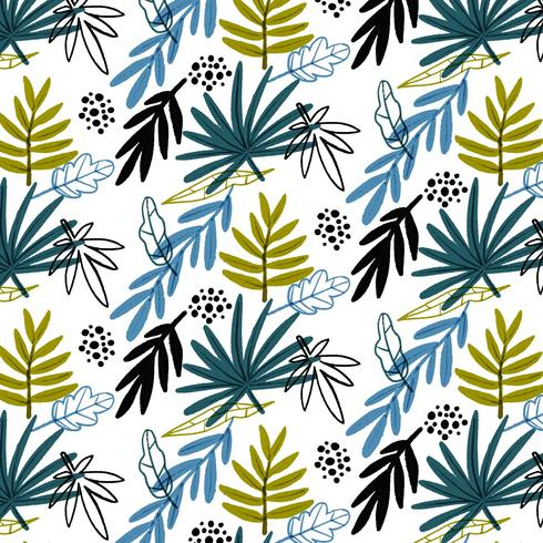 Colorful Pattern With Leaves vector