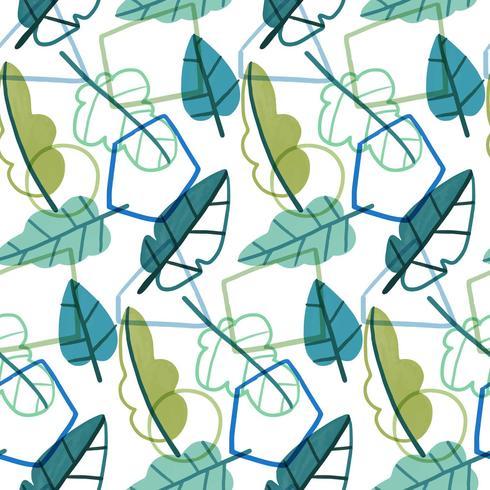 Geometrisch en botanisch patroon