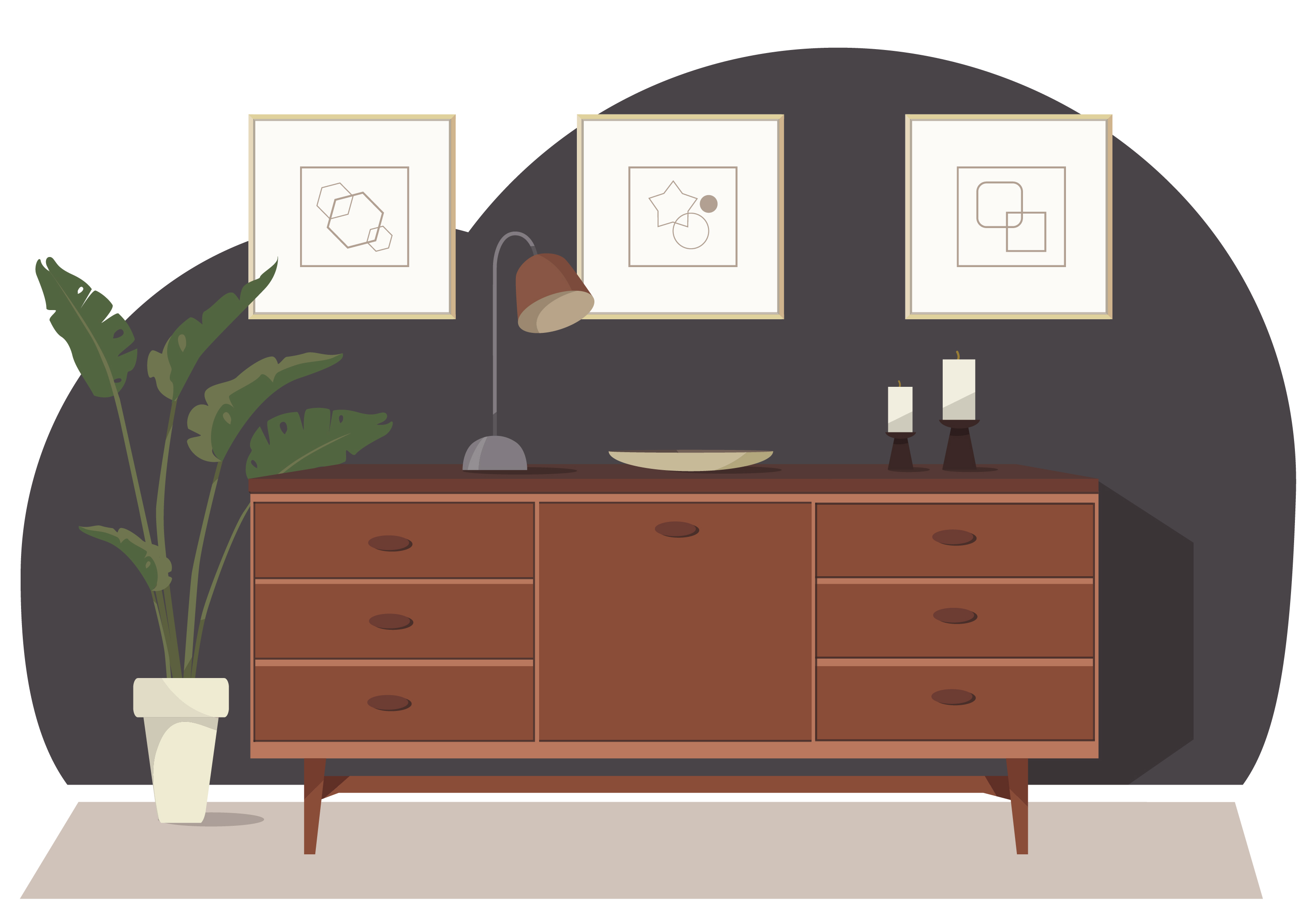Vector Room And Furniture Illustration Download Free