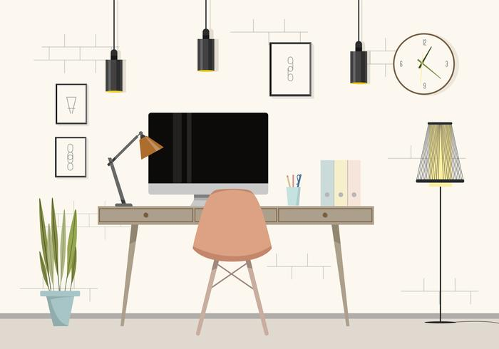 Vektor Office Room Illustration