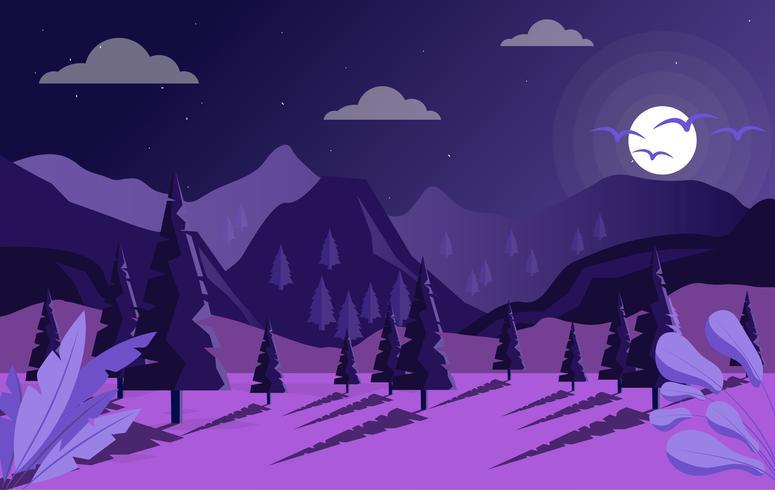 Ilustración de paisaje de fantasía de vector