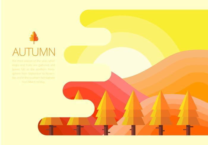 Ilustración de la temporada de otoño