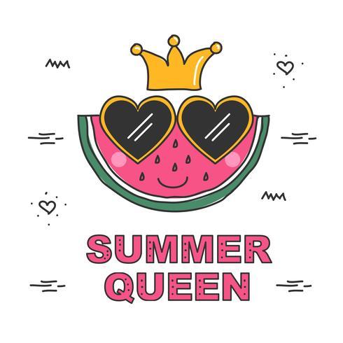 Vector de la reina de verano