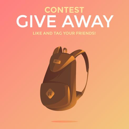 Bag Instagram Give Away Concurso Modelo Vector