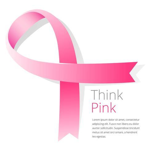 Layout del nastro di consapevolezza del cancro al seno vettore