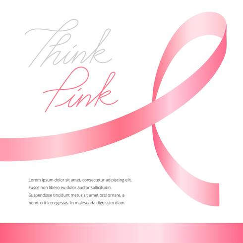 breast cancer awareness ribbon template download free vector art