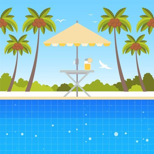 Vector hermosa ilustración de verano