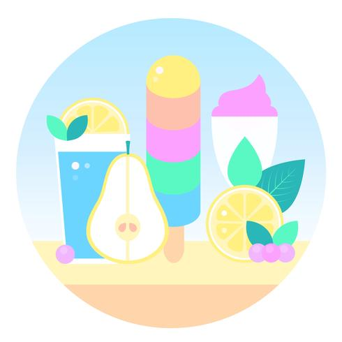 Vector Ice Cream Design Illustration