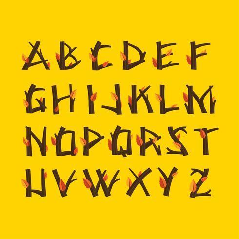 Höst Alfabet Vector