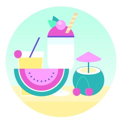 Vector Fresh Juice Illustration