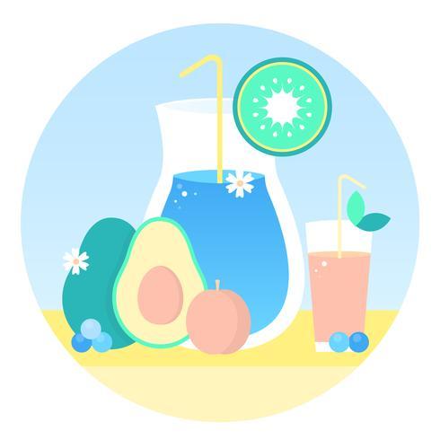 Vektor färsk juice illustration