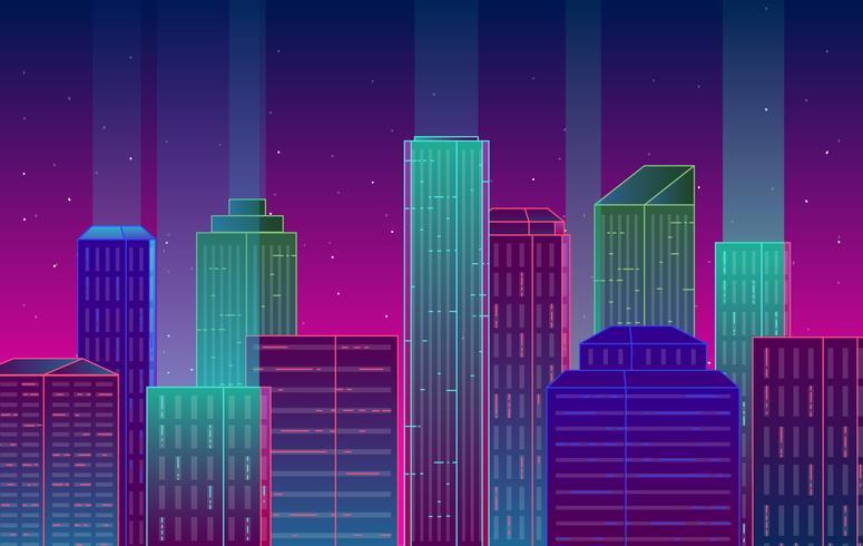 Illustration de paysage de ville de vecteur