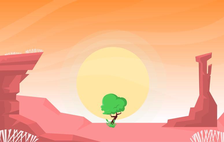 Vector bela ilustração do deserto