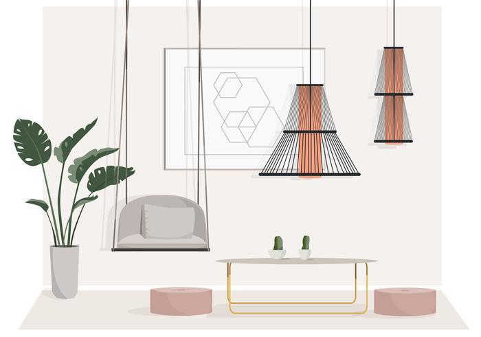 Vector ilustración de la sala de estar