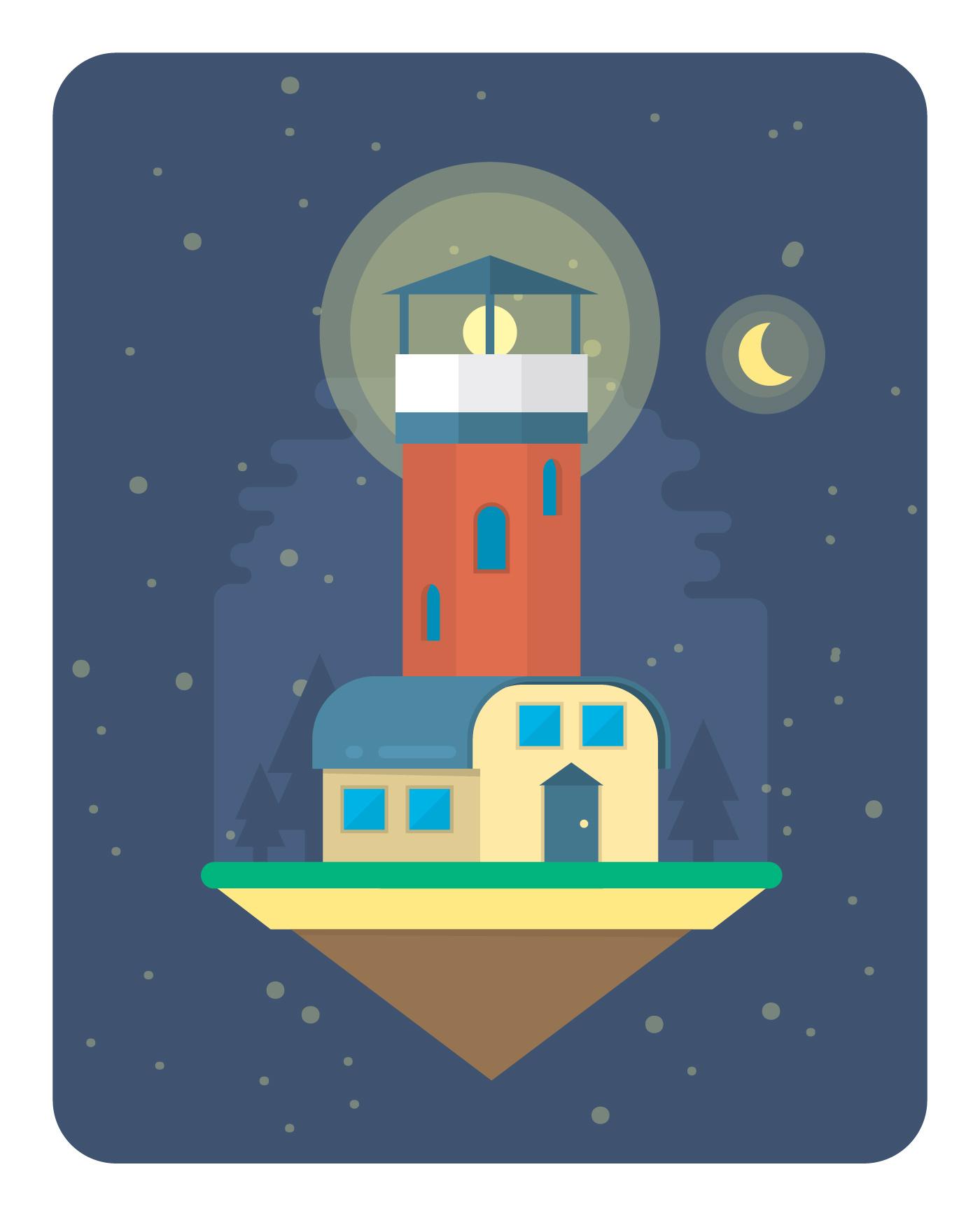 Lighthouse Illustrations & Vectors
