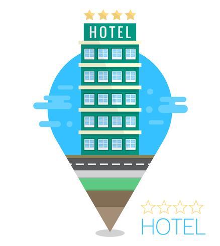 Illustration de l'hôtel plat