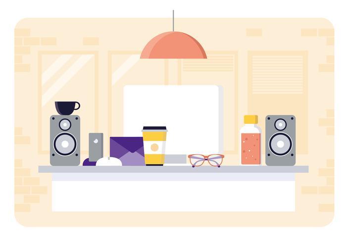 Vektor-Büro-Raum-Illustration