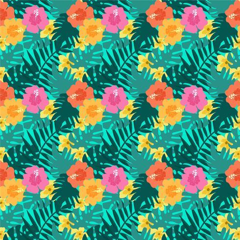 Vector tropisch naadloos patroon
