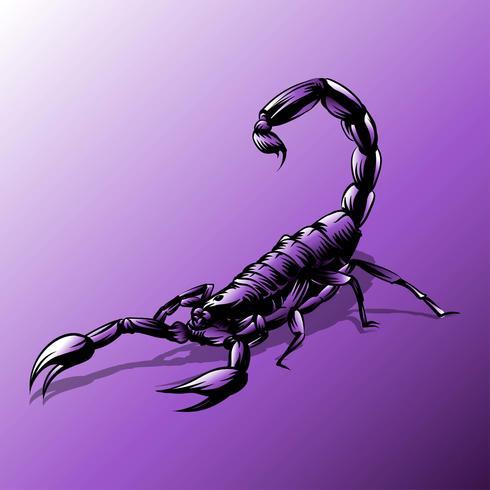 Scorpion tatouage vecteur violet