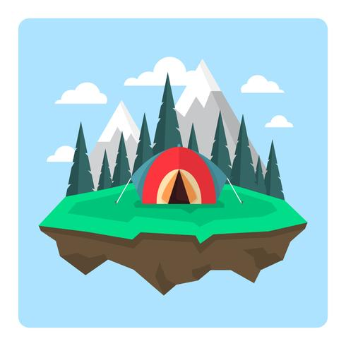 Paysage de camping