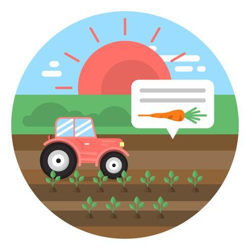 Ilustración de granja plana