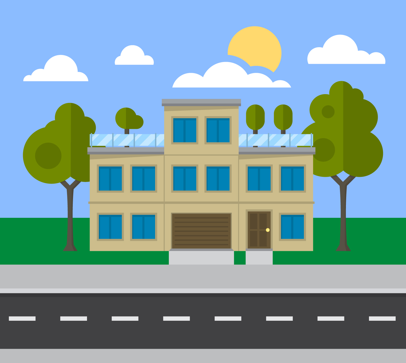 Building Cartoon Free Vector Art 13624 Free Downloads