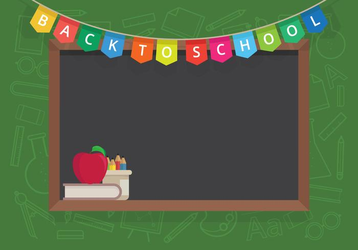 First Day Back To School Illustration for Kids or Student.