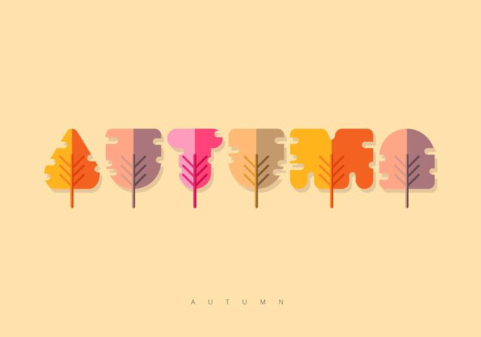 Illustration de l'alphabet automne