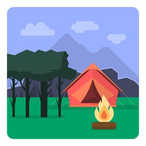 Camping paisaje