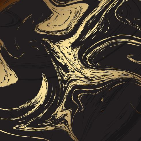 Elegant background with black and gold marble texture vector