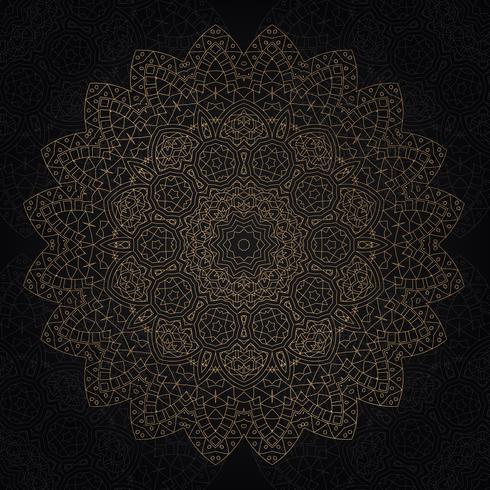 Decoratief mandala ontwerp vector