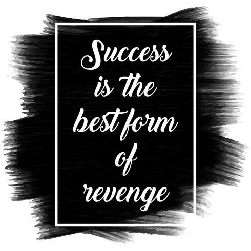 Inspiradora citação em uma textura pintada preta