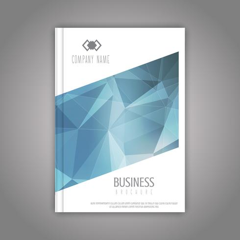 Business brochure with a low poly design vector