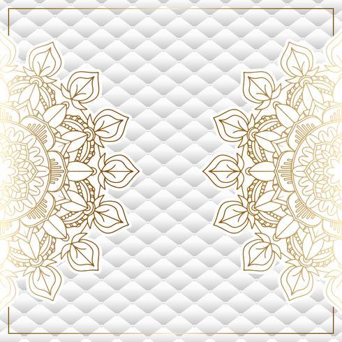 Fondo elegante con diseño de mandala de oro