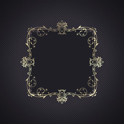 Fond élégant avec cadre décoratif