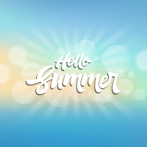 Fundo temático de verão