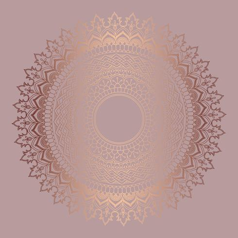 Fondo de mandala de oro rosa vector